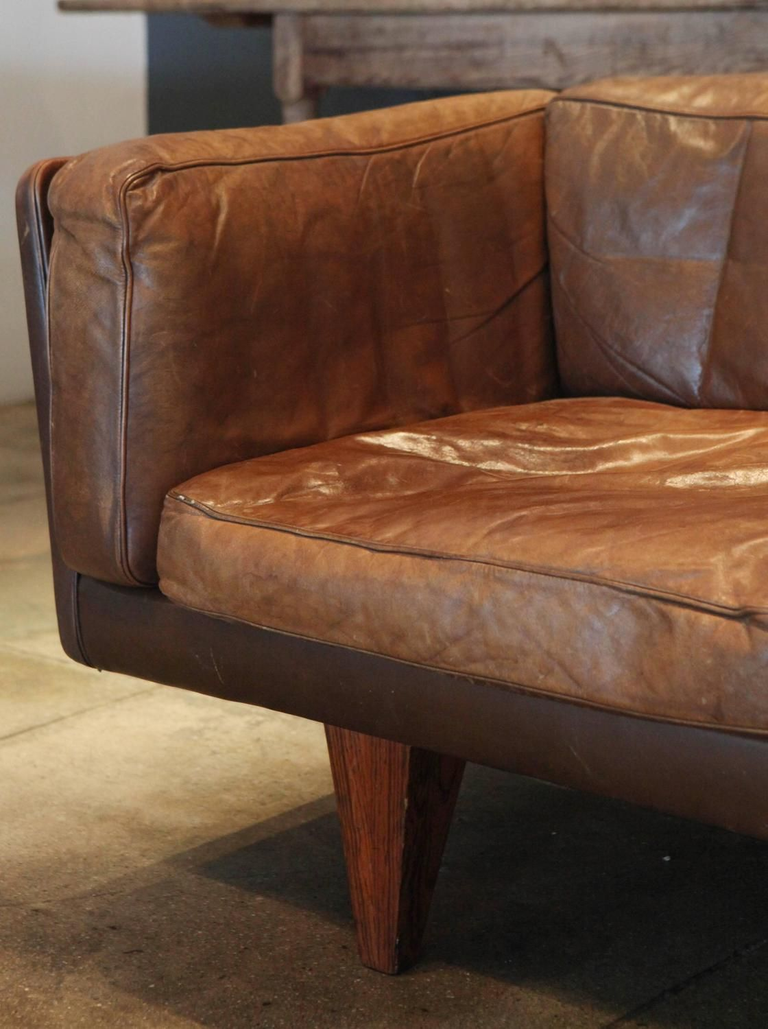Illum Wikkelso Three Seater Denmark 1962 From A Unique