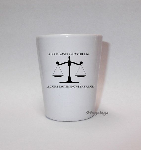 Lawyer Gift Funny Shot Glass Knows The Judge Law By Mugsleys 500