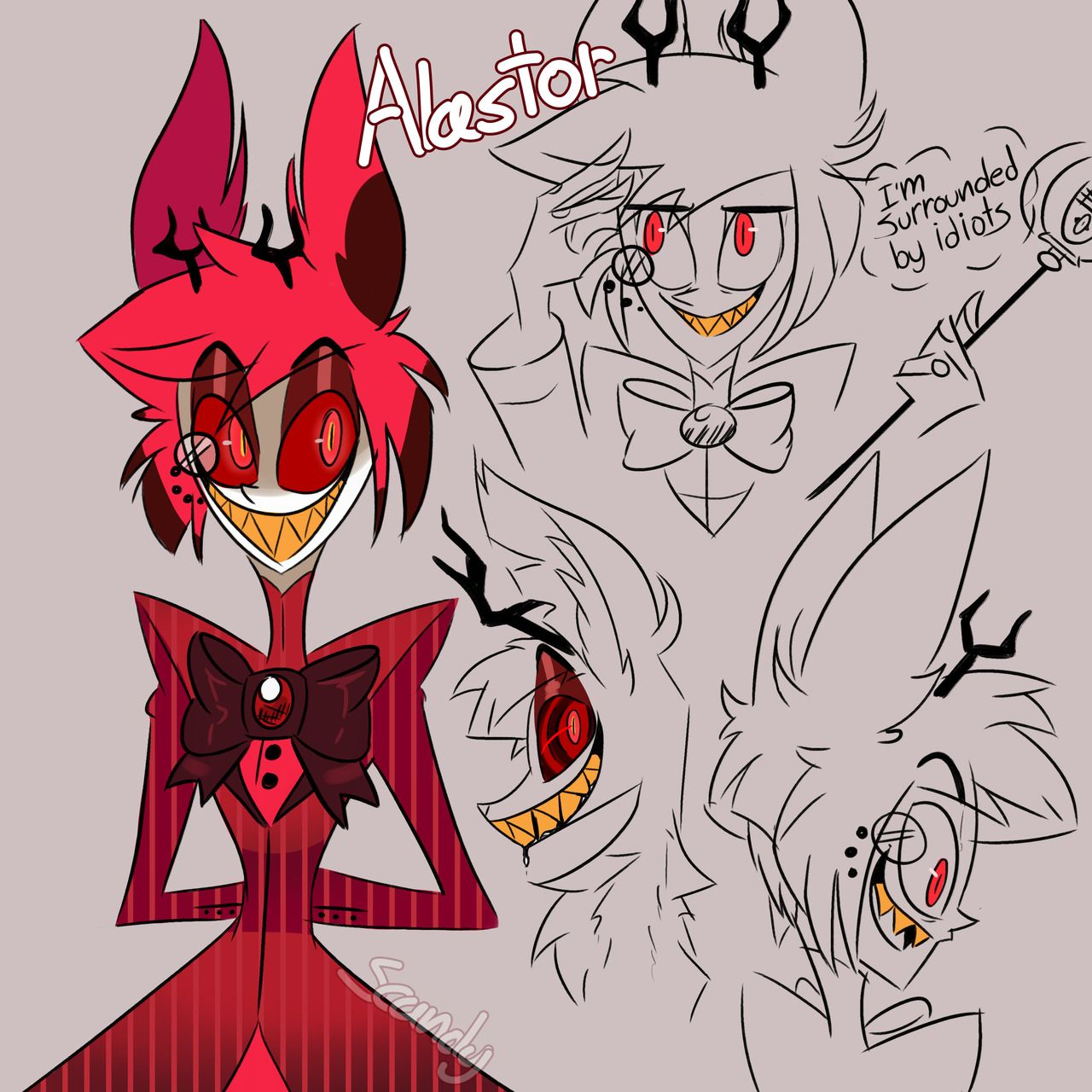 Hazbin Hotel #Cartoon #Movie #Vivziepop #Animation Alastor