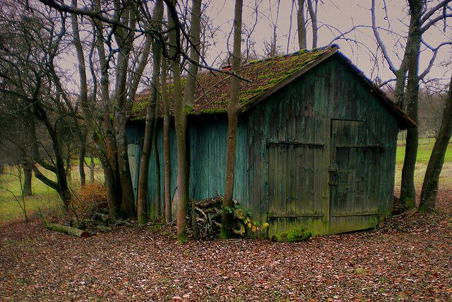 Old barn Great blue color