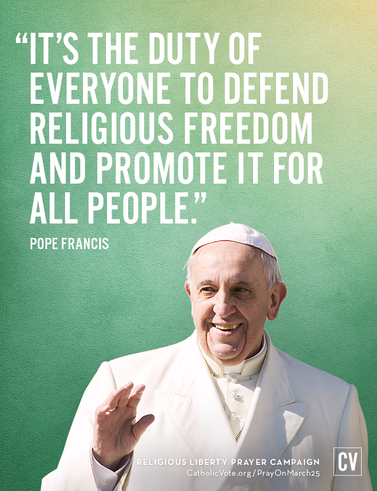 Pope Francis When He Talks About Religious Freedom Hes Not