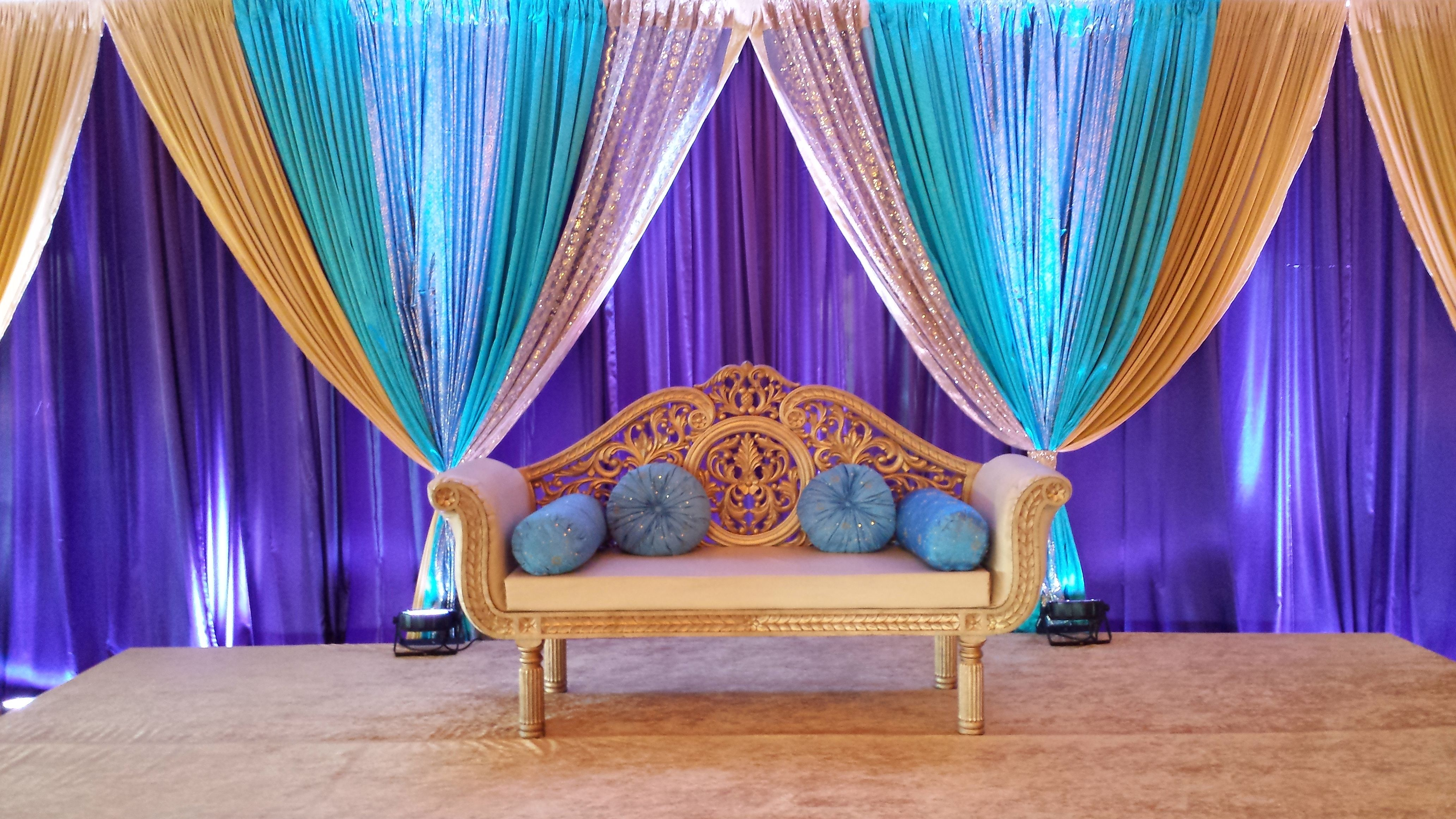 Wedding stage decoration with balloons  Pin by Waleed Javaid on Mehndi  Pinterest  Weddings