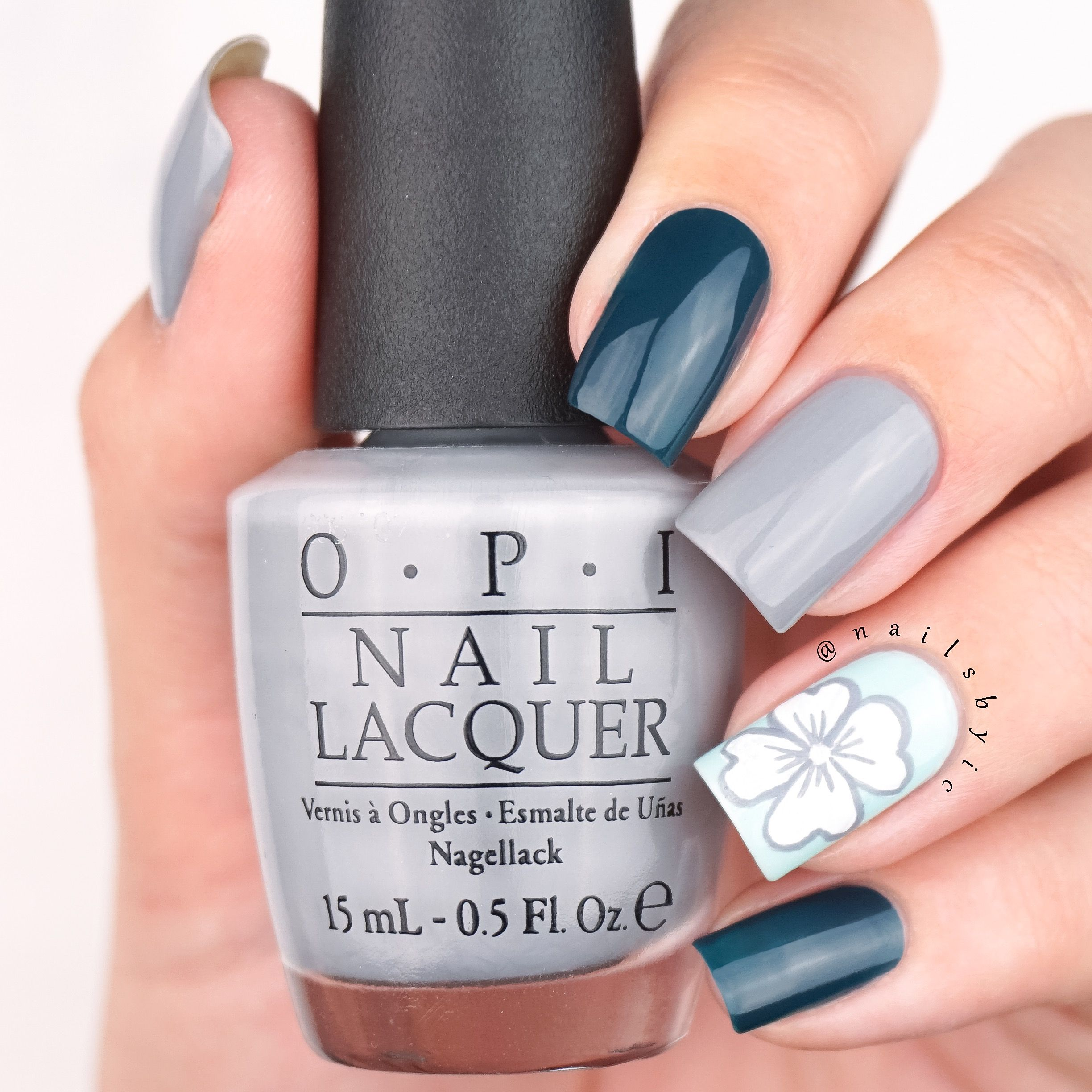 OPI Washington DC fall/winter 2016 flower nail art using CIA=Color ...