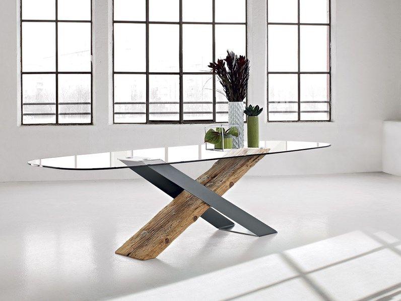 Tavolo Ovale In Vetro X Secolare Nature Design In Offerta Outlet Tavolo Ovale Tavolo Legno E Vetro Design Tavolo In Legno