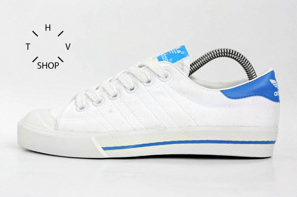promo code e7826 6eb1c 1985 NEW Adidas Tennis Crack Sneakers   Womens Canvas Trainers   Kids  Deadstock Shoes   Boys Girls White Kicks   made in Philippines NOS by  HTVshop on Etsy
