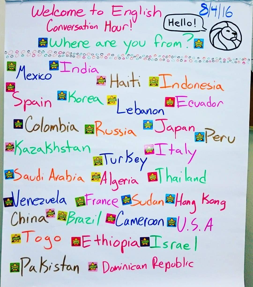 This Weeks Englishconversationhour Welcomed 108 Conversationalists