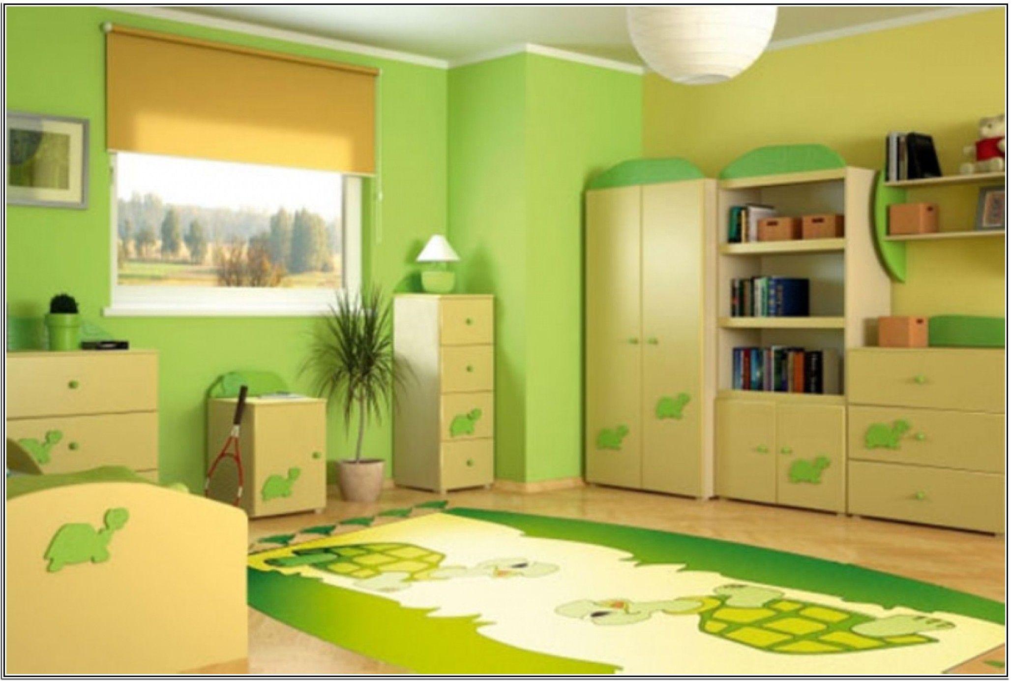 دهانات غرف نوم أطفال باللون الأخضر Green Bedroom Colors Green Kids Rooms Lime Green Bedrooms