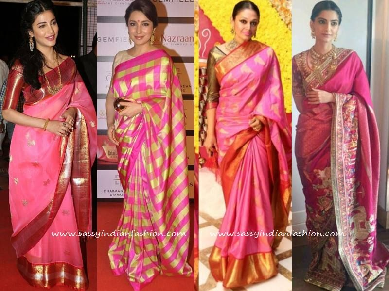 Tired Of Your Silk Sarees See This 100 Celebrity Saree Style Saree Silk Saree Blouse Designs Saree Styles