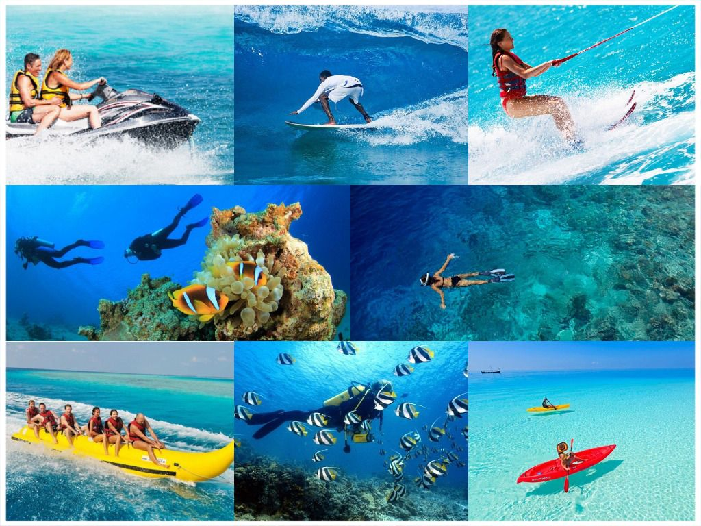 Enjoy a number of water sports in paradise island