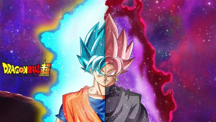 Super Saiyan Rose Goku Black Wallpaper: Goku Super Saiyan Blue And Goku Black Super Saiyan Rose