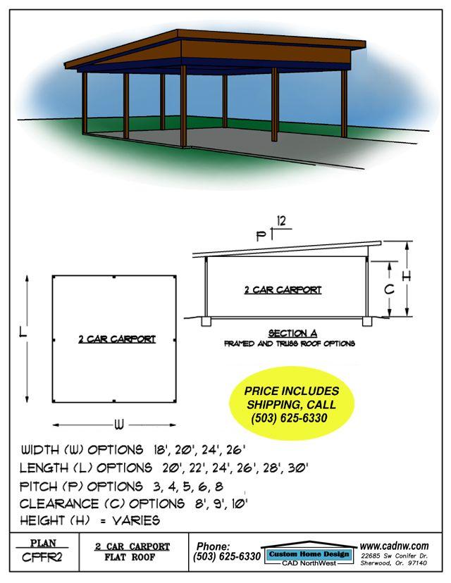 Sales Drawing Cpfr2 Carport Plans Building A Carport Carport