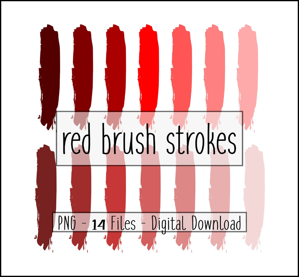 Red Brush Strokes Brush Stroke Bundle Brush Stroke Png Etsy Brush Strokes Brush Stroke Png Make Your Own Background