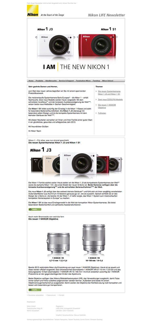Newsletter-Design-Beispiel Nikon  #Newsletterdesign #Email #Emailmarketing