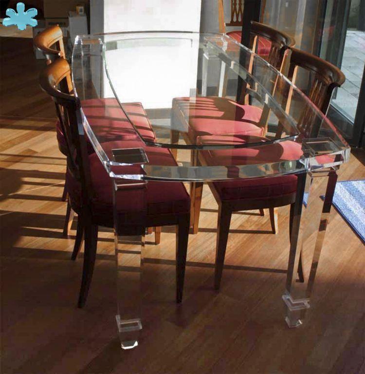 Modello botte tavolo trasparente acrylic diningtable for Tavolo trasparente