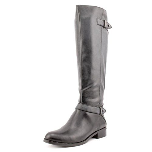 Alfani Mable Womens Size 6 Black Faux Leather Fashion Knee-High Boots *** You can find out more details at the link of the image.
