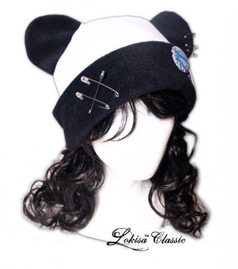 Photo of Panda Punk Fleece Hat Anime Cosplay Punk JRock