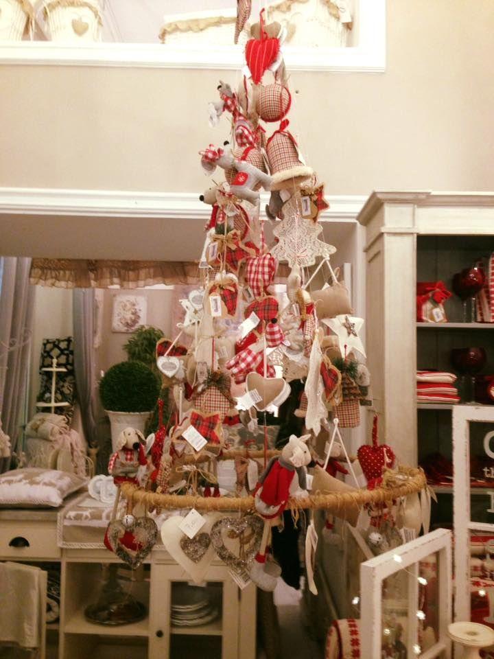 Il nostro albero di Natale shabby chic firmato Blanc ...