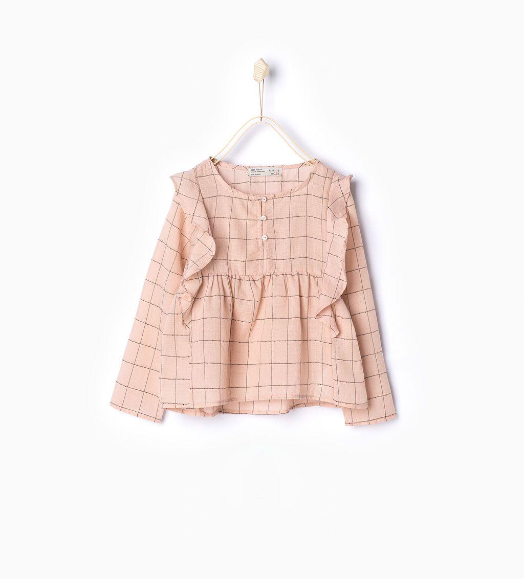 Frilly blouse-Shirts-Girl-Kids   4-14 years-KIDS   ZARA Hungary ...