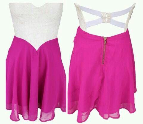 Cute pink & white dress.