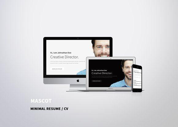 Mascot - Minimal Resume \/ CV - creative director resume