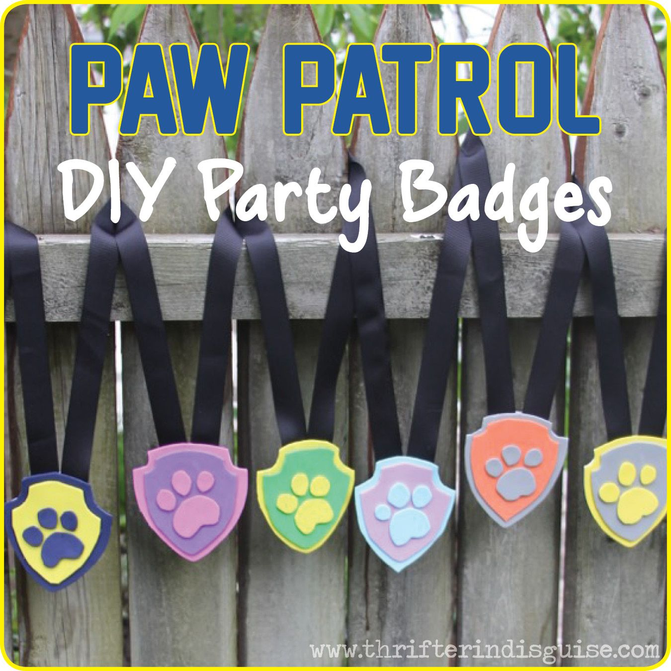 Big happy birthday badges party products party delights - Favors For Paw Patrol Birthday Party