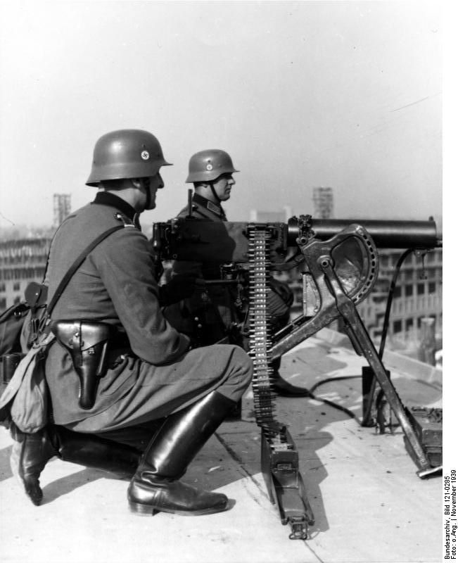 Image result for German ww2 soldiers with  Maxim Machine gun