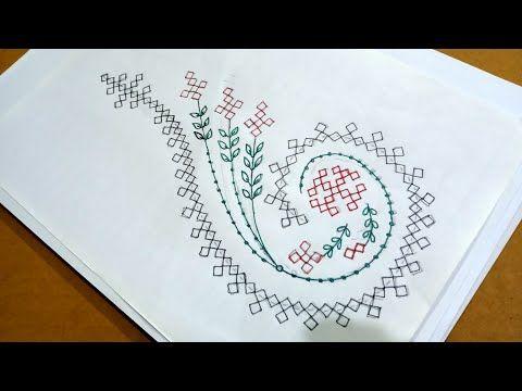 Draw sindhi Work design for Kurti, Bedsheet,Kushon