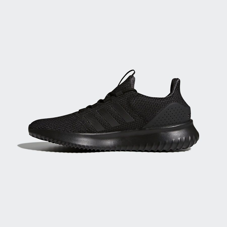 Mens Adidas NEO Cloudfoam Ultimate Black Sneaker Athletic Shoes ...