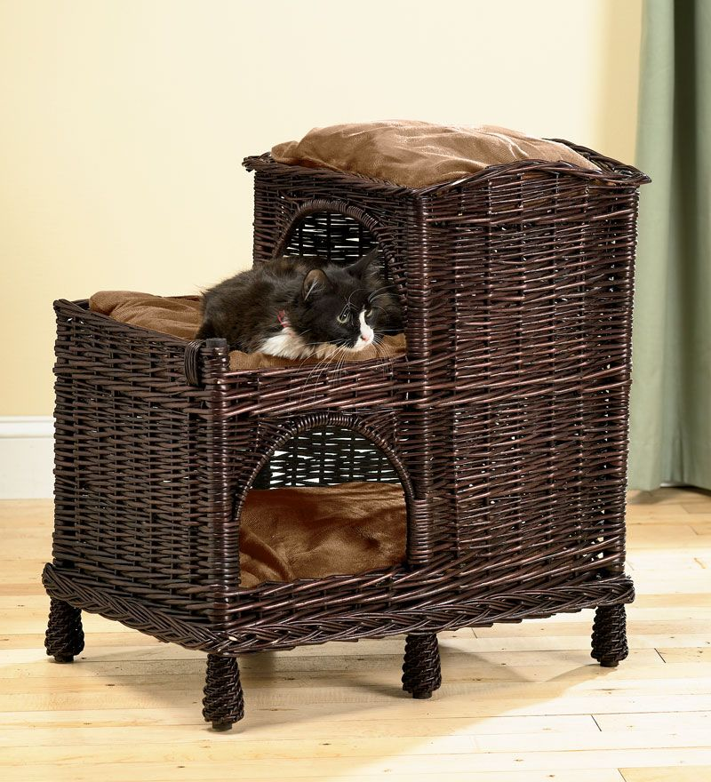 Perfect Cristina gift. Rattan MultiTiered Cat Palace With