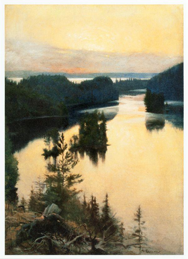 Edelfelt, Albert  Kaukola Ridge at Sunset