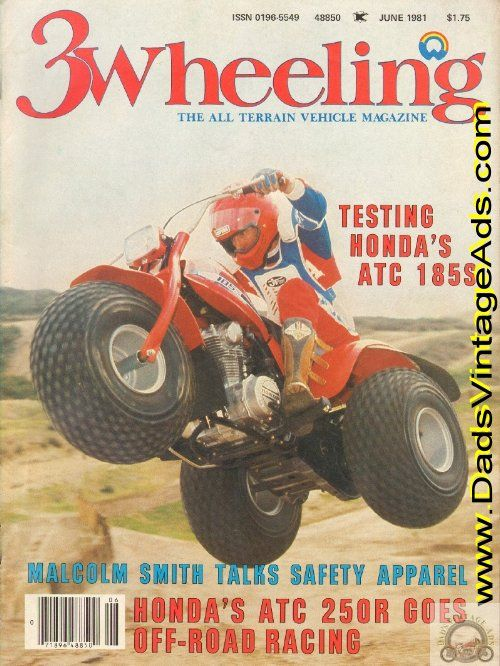 1981 Honda Atc 185s 3wheeler Test €� 3 Wheeling Magazine Vintage
