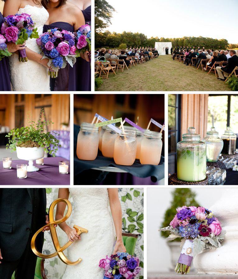 Brighter jewel tones - roses, lisianthus, anemone, etc.  I would suggest less gardeny for your wedding style.