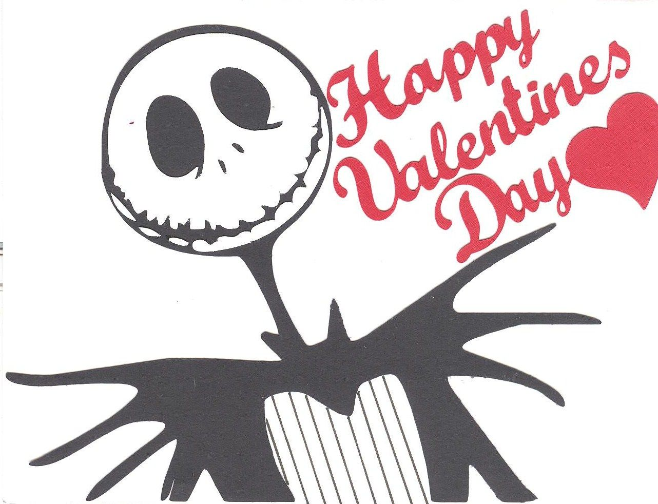jack skellington valentine made from coloring book and make the cut