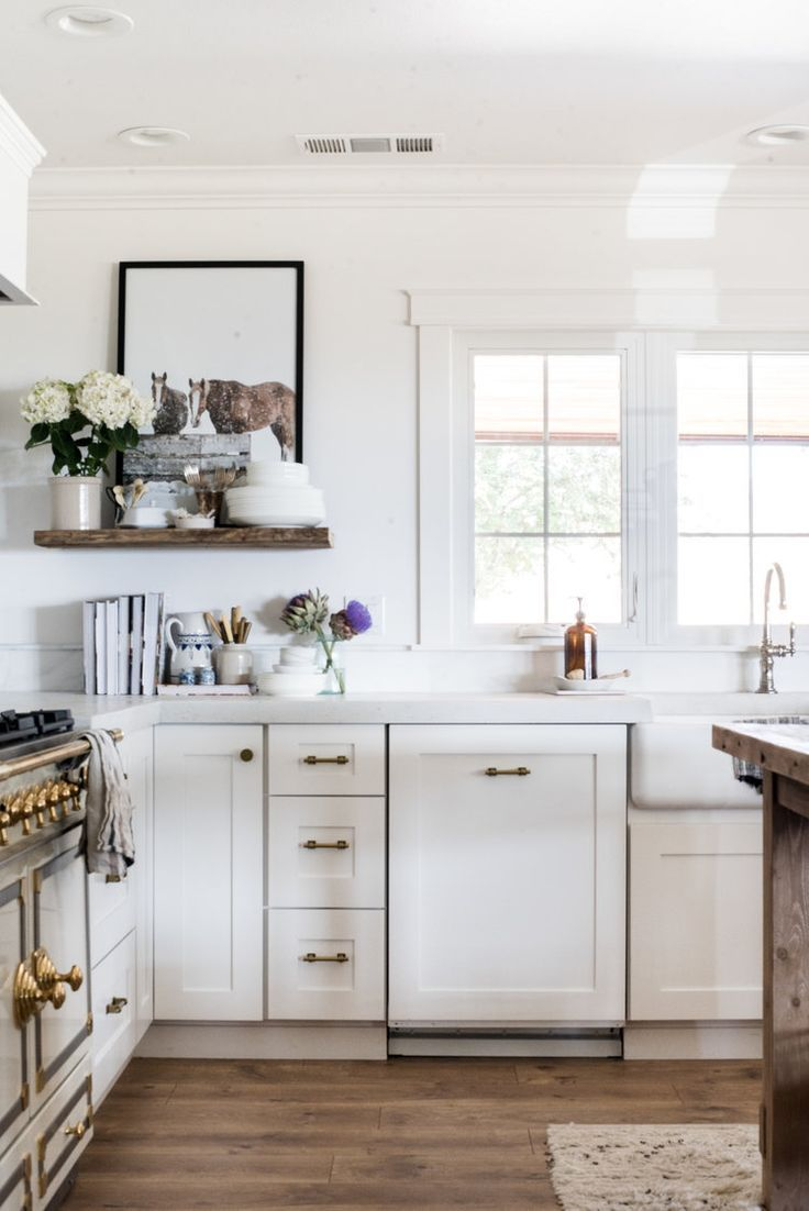 Classic Brass Cabinet Hardware from The Home Depot   White farmhouse ...