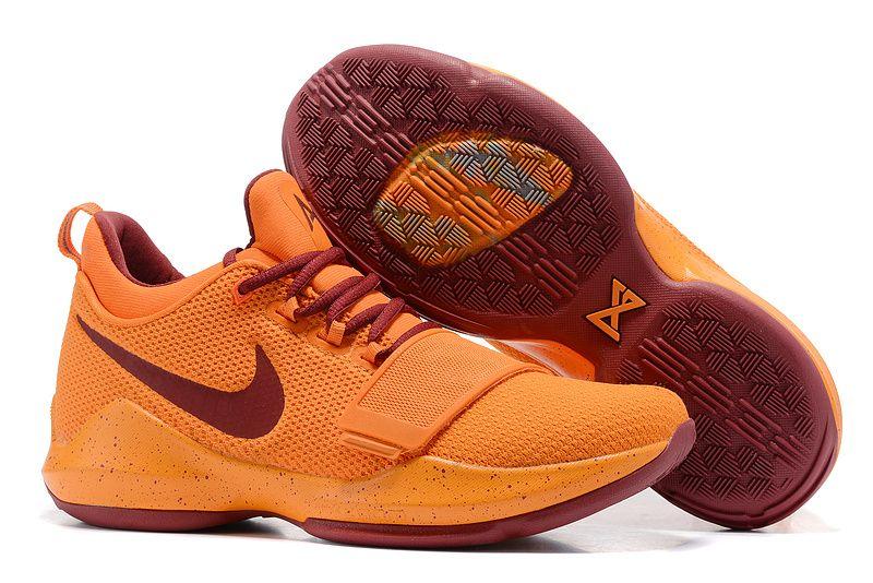 Official 2018 Nike Zoom PG 1 New Paul George Shoes Max Orange Laser Orange d1afefcc78fb2