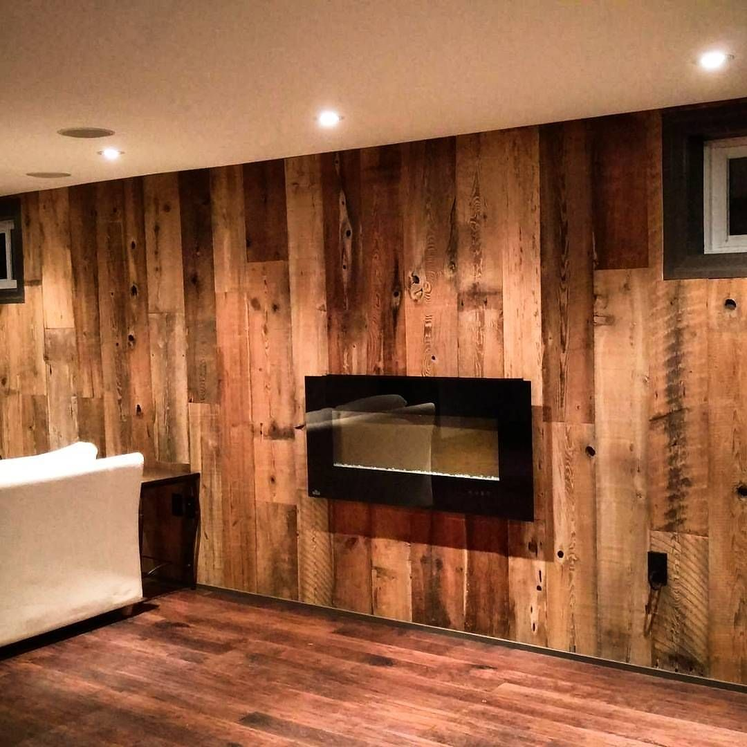Dyi Feature Wall Using Barnboardstore Com Reclaimed Brown Barn