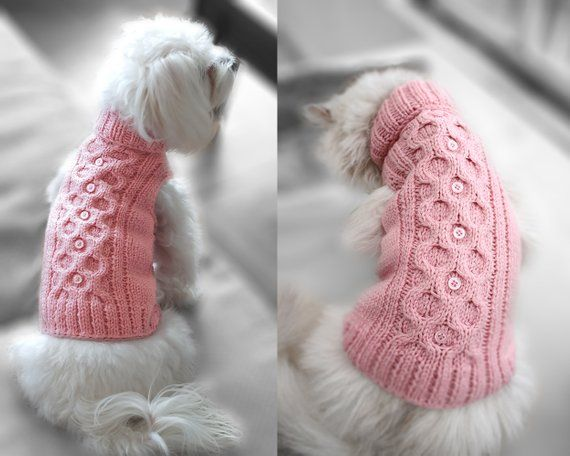 Georgeus pattern sweater for dogs and cats, Handmade