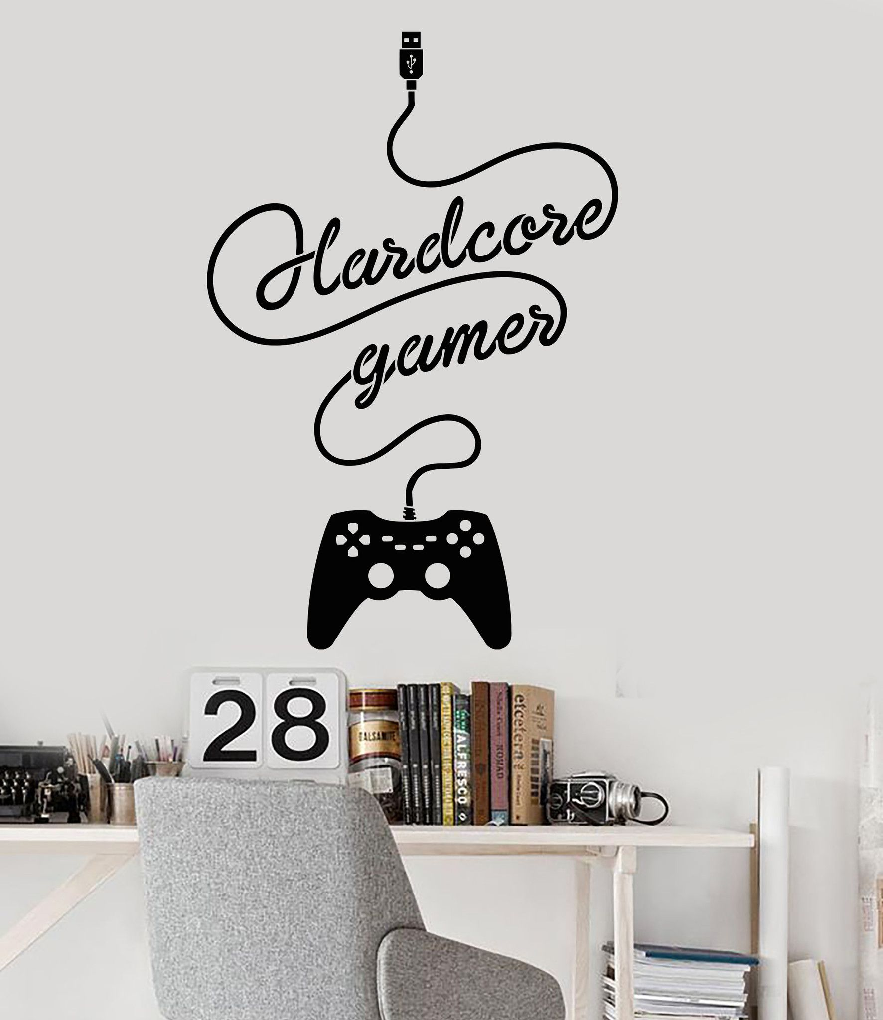 Vinyl Wall Decal Gamer Joystick Video Game Children s Room