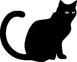 Halloween Silhouettes Silhouettes Of Halloween Black Cat Silhouette Cat Silhouette Tattoos Cat Silhouette