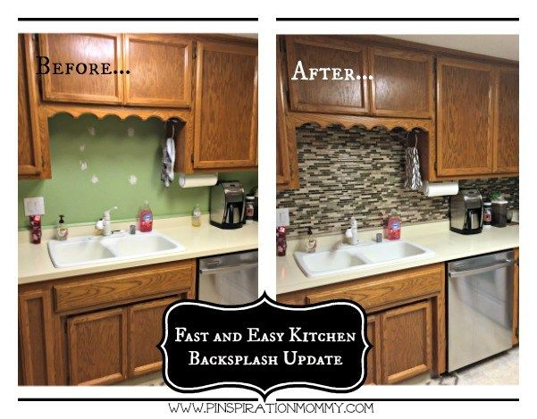 Vinyl Tile Backsplash Quick And Easy Kitchen Upgrade Kitchen