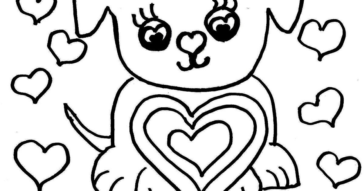 Cute Dog Valentine S Day Coloring Page Free Printable Owls In Love With Hearts Valentines Day Coloring Page Valentine Coloring Pages Valentines Day Coloring