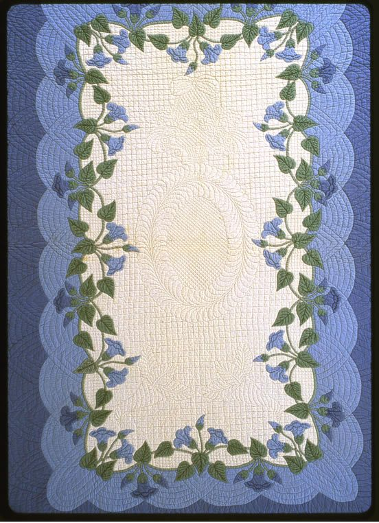 Mary Gasperik Private Collection - The Quilt Index [lovely applique and quilting!  Two were made, probably for twin beds.  LOTS of information on the quilt is available on the index]