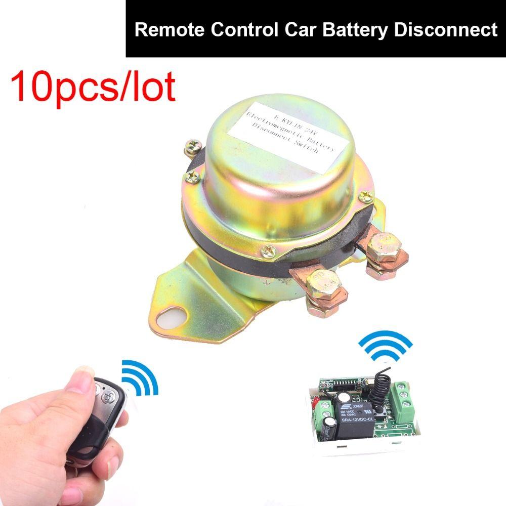 10pcs Dc 12v Automobile Electromagnetic Solenoid Valve Power Switch   Remote Control Terminal
