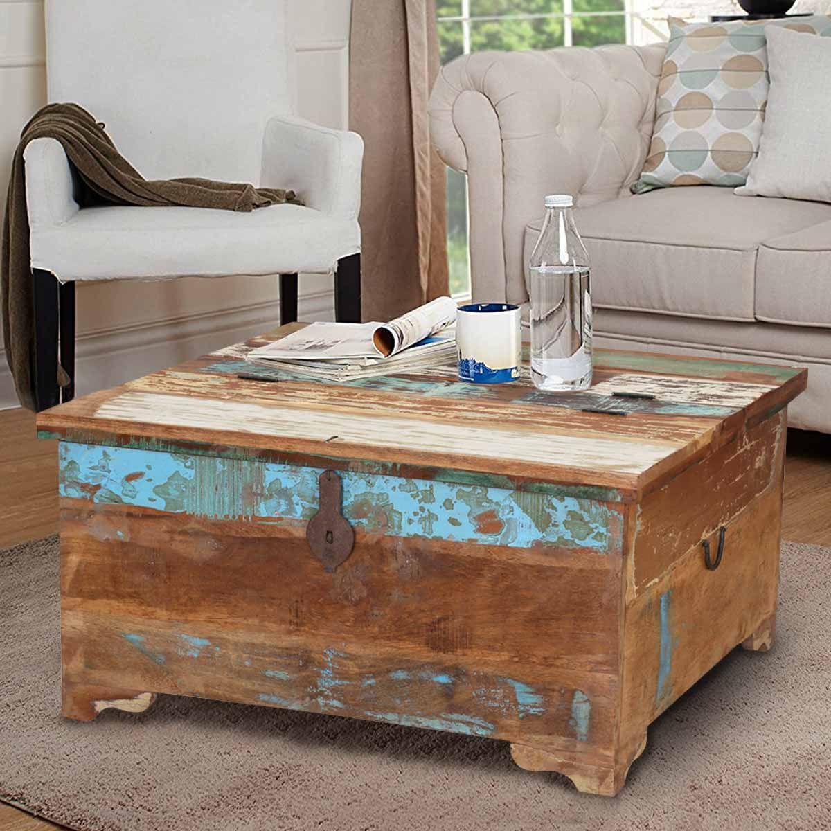 Rustic Reclaimed Wood Coffee Table Storage Trunk Wood Coffee Table Storage Coffee Table Wood Reclaimed Wood Coffee Table [ 1200 x 1200 Pixel ]