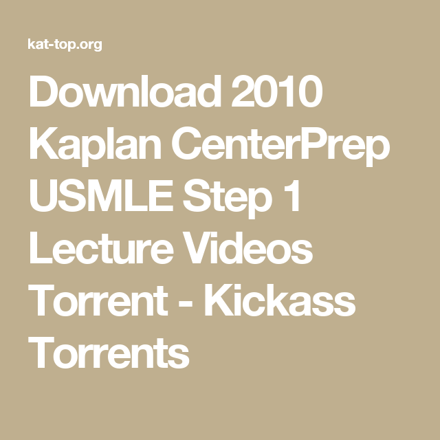 Kaplan mcat practice tests torrent | Peatix