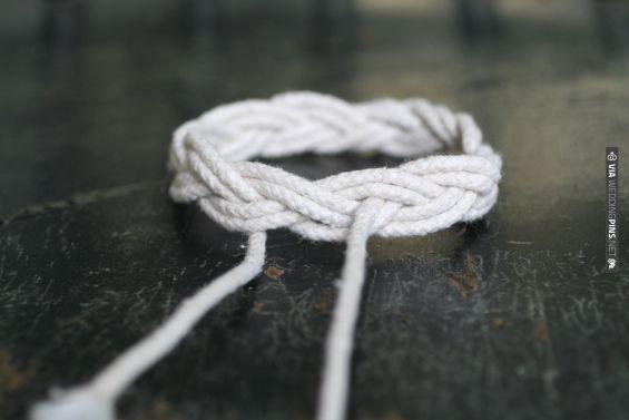 Sailor's Knot Bracelet Tutorial | VIA #WEDDINGPINS.NET