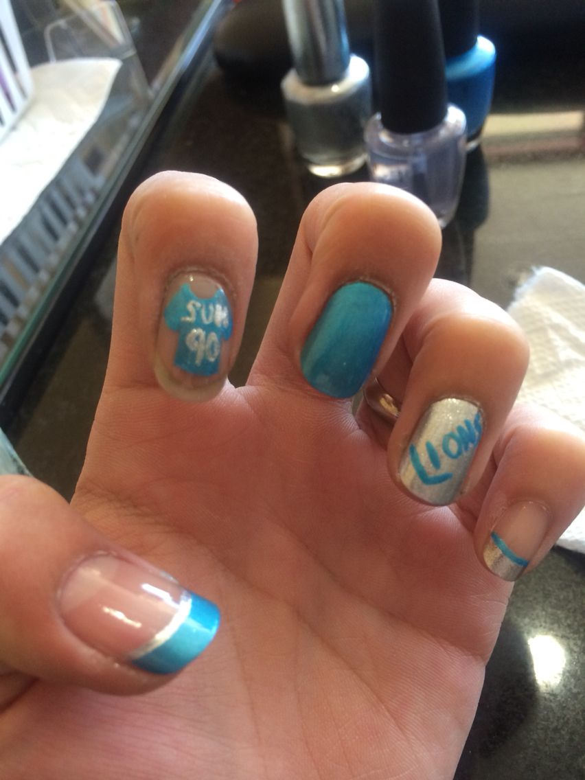 Detroit Lions of the NFC NORTH. | Football Nail Designs | Pinterest ...