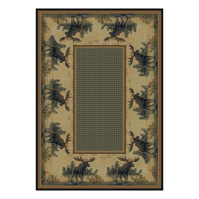United Weavers 532 40417 Hautman Area Rug Northwood Moose At Lowe S Canada Find Our Selection Of Rugs The Lowest Price Guaranteed With