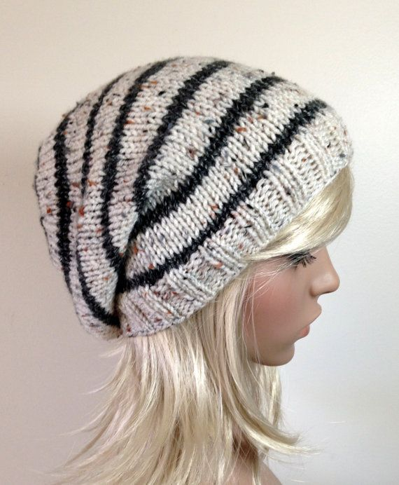 Instant Download Knitting Pattern Knit Hat Pattern Easy Slouchy