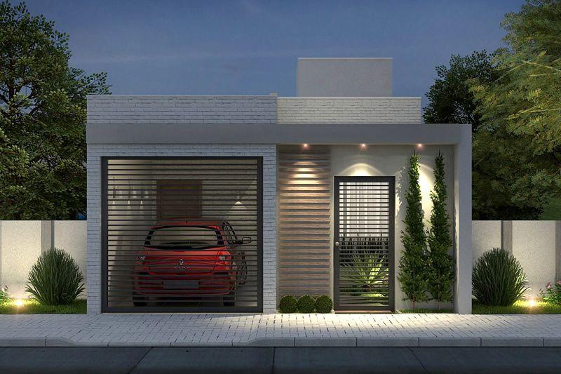 Planta de casa com 2 quartos home en 2019 fachadas de for Fachadas de casas modernas de 2 quartos